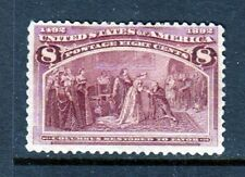 #236 8 cent Columbian Issue (Mint Hinged) cv$52.50