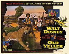 OLD YELLER Movie POSTER 22x28 Half Sheet Dorothy McGuire Fess Parker Tommy Kirk