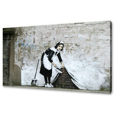 Banksy Maid canvas print picture modern wall art free fast delivery