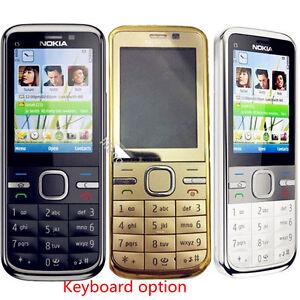 Original Nokia C5-00 Unlocked Dual Camera English Hebrew Keyboard cellphone