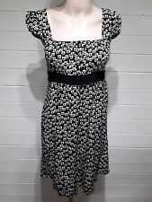 Atmosphere Top/Tunic ~ Size 10 ~ Black beige floral ~ Casual, Everday ~ 1159