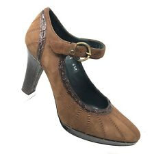 Donald Pliner Herbs Brown Leather Mary Jane Pump Womens Shoe SIZE 6.5 M