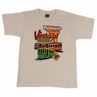 Adult T Shirt Australian Australia Day Souvenir 100% Cotton - Melbourne Trams