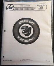 1975 Arctic Cat Z Snowmobile Parts Manual Copy P/N 0185-070