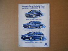 Depliant Pubblicitario concorso Auto PEUGEOT 106 306 405 SW anno 1995  [C88]