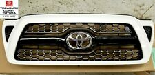 NEW OEM TOYOTA TACOMA SPORT 05-2012 SUPER WHITE 040 PAINTED HONEYCOMB GRILLE