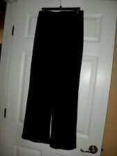 Women's~CHICO'S Travelers~BLACK~LOOSE FIT~WIDE LEG~~Stretch~Pull on~Pants size 1