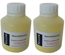 More details for two yellow genuine refill kit for brother laser printers toner powder refill