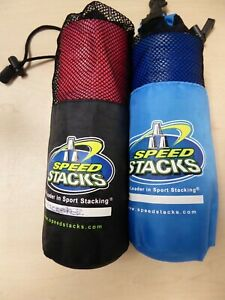 2 Packs of Cup Speed Stacks Stacking Cups Neon Pink & Blue C13