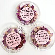 PINK Rose Petal Natural Biodegradable Wedding Confetti Dried Petal Pockets Pack