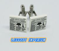 LEGO Custom Tile Cufflinks - Newspaper hero - minifig scale FREE POST