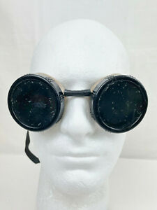 VINTAGE STEAMPUNK WELDING SAFETY GOGGLES - GREEN TINT