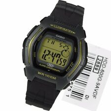 Hdd-600g-9a Black 10-year Battery Casio Men's Watch Dual Time 100m Digital Daily
