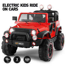 12V Red Electric Kids Ride on Car Truck Toys 3 Speeds MP3 LED w/Remote Control