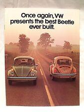Original 1976 VW VOLKSWAGEN BEETLE / BUG SEDAN & CONVERTIBLE Sales Full Catalog