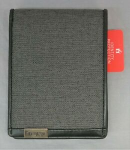 Tumi Brand Mens Alpha Double Billfold Wallet RFID Blocking Gray Leather NEW $95