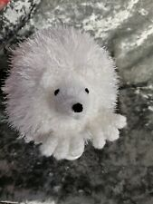 Beautiful  White Sparkly  Knitted Hedgehog