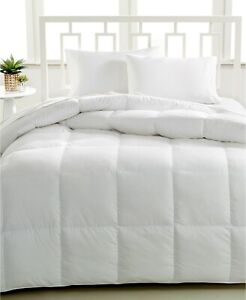 Hotel Collection Luxe Down Alternative Hypoallergenic White  Twin Comforter