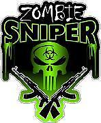 Zombie Sniper walking dead sticker decal