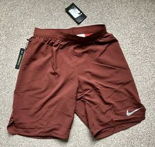 """Nike 9"""" Distance 2 In 1 Running Shorts Size Small COPPER ORANGE"""