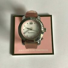 Juicy Couture JC.63.3.14.0282S Stainless Steel Watch with Pink Rubber Bracelet