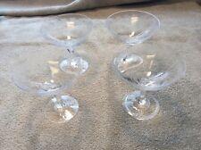 Lot of Four Rosenthal Crystal Sherbert Glasses 460-1 Hand engraved / cut