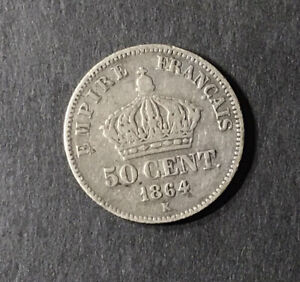 50 Centimes 1864 K Qualité !