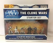 NEW RARE STAR WARS MINIATURES GAME THE CLONE WARS STARTER SET 6 PAINTED FIGURES