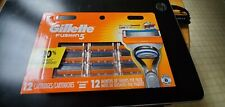 Gillette Fusion 5 Razor Blades 12 Replacement Cartridges Blades.100% AUTHENTIC.