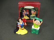 Hallmark Disney Christmas Ornament Anniversary Edition Set Snow White Vintage 97