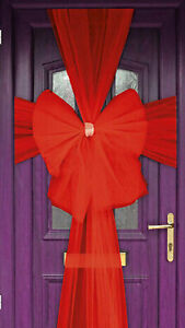 New Deluxe Luxury Red Door Bow Decoration Kit Christmas New Year Party Accessory