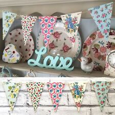 Handcrafted Wooden Decoupage Bunting using Cath Kidston designs