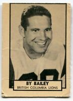 1962 Topps By Bailey Card #1 BC Lions Washington State