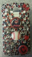 Cleveland Indians MLB bling case 4 iPhone 4s,5,5s,5c,6,Samsung Galaxy S3,S4&S5