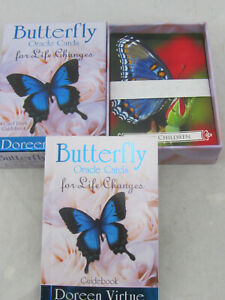 Butterfly Oracle Cards for Life Changes 44 Cards & Guidebook by Doreen Virtue