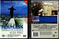 FEARLESS Jeff Bridges Isabella Rossellini NEW DVD (Region 4 Australia)