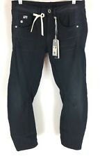 G Star Womens Arc 3D Kate Tapered Crop Ankle Jeans Mazarine Blue Size 26 NWT