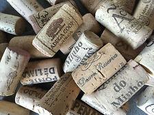 100 Mixtos USADO Vino TAPONES CORCHO crafting. MANO selección y Embalado En GB