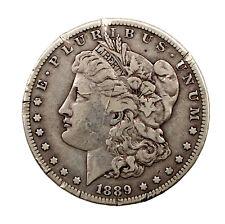 1889-CC $1 VF Morgan Silver Dollar (rim damage)
