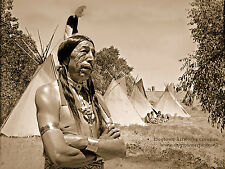 Large Giclee Reprint Vintage Native American Photo, SPIRIT KEEPER, PLAINS INDIAN