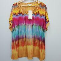 [ BEME ] Womens Tie Dye Criss Cross Tie Dye Top NEw    Size M or AU 20 / US 16