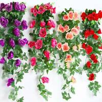 2.2M Artificial Fake Silk Rose Flower Ivy Vine Garland Wedding Party Home Decor