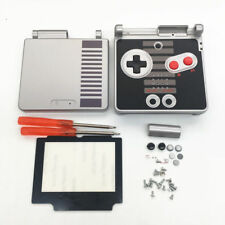 GBA SP Game Boy Advance SP Housing Shell GLASS Screen NES Limited Edition USA!