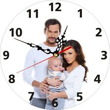 Personalised Family Photo  Clock Couple Love Baby Man Wife Child Customised Gift