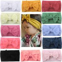 Newborn Toddler Baby Girl Head Wrap Rabbit Big Bow Knot Turban Headband Headwear
