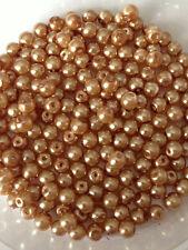 4mm vetro Finte Perle-Caramello (200 Perline)
