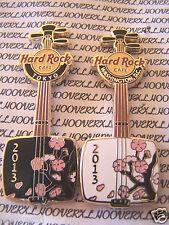 2013 HARD ROCK CAFE TOKYO/WASHINGTON DC CHERRY BLOSSOM SHAMISEN PIN SET