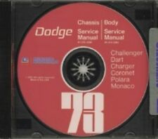 DODGE 1973 Challenger, Dart, Charger Shop Manual CD 73