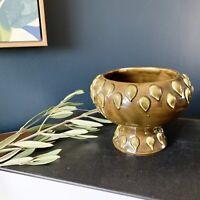 mid century modern brutalist bitossi era Italian art pottery clay pedestal vase