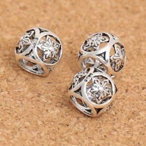Openwork SNOWFLAKE spacer-Star-Christmas-925 sterling silver European charm bead